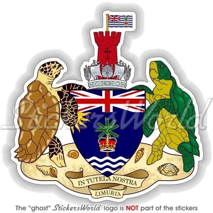 Britisches Territorium INDISCHEN OZEAN UK Wappen Vinyl Sticker Aufkleber 90mm