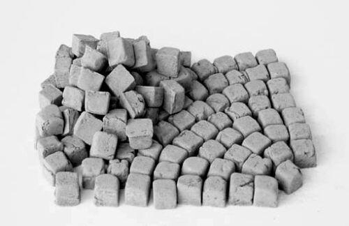 Halb-Steine granit grau 1:35 350 Keramik Pflastersteine klein