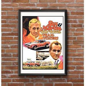 Sox-amp-Martin-1970-Promo-Poster-Vintage-NHRA-Pro-Stock-Drag-Racing