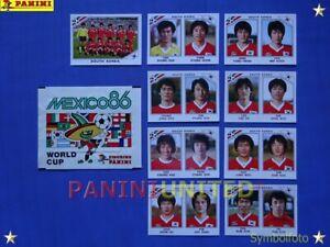 Panini-WM-1986-WorldCup-WC-86-Team-South-Korea-komplett-Sudkorea-complete-set