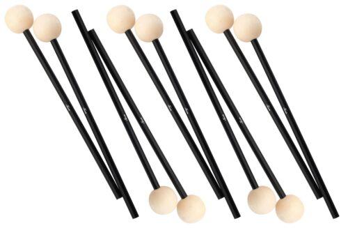 5 Paar Xylophonschlägel Vibraphon Schlägel Xylofon Mallets Sticks Schlegel Holz