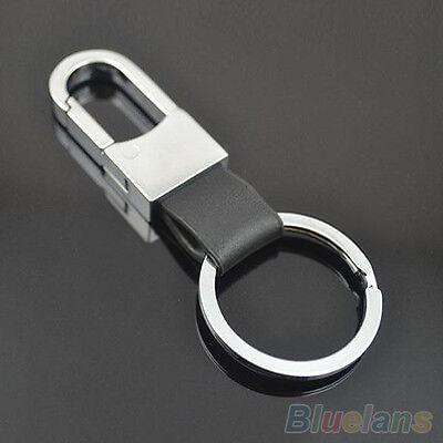 New Fashion Leather Strap Keyring Keychain Key Chain Ring Key Fob Key Holder