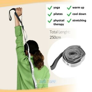 12-Fixed-Loops-Exercise-Yoga-Stretching-Strap-with-Handle-for-Athletes-Dancer