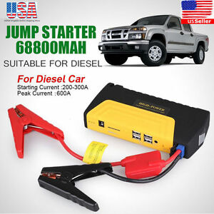 68800mAh Car Jump Starter Emergency Charger Booster Power Bank Battery 3LED 4USB
