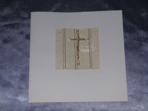 BLANK CARD SUITABLE FOR BAPTISM CHRISTENING COMMUNION CONFIRMATION GOLD CROSS