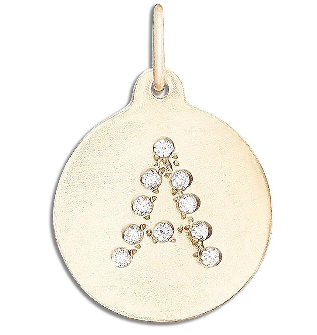 Helen Ficalora Alphabet Charm With Pave Diamonds