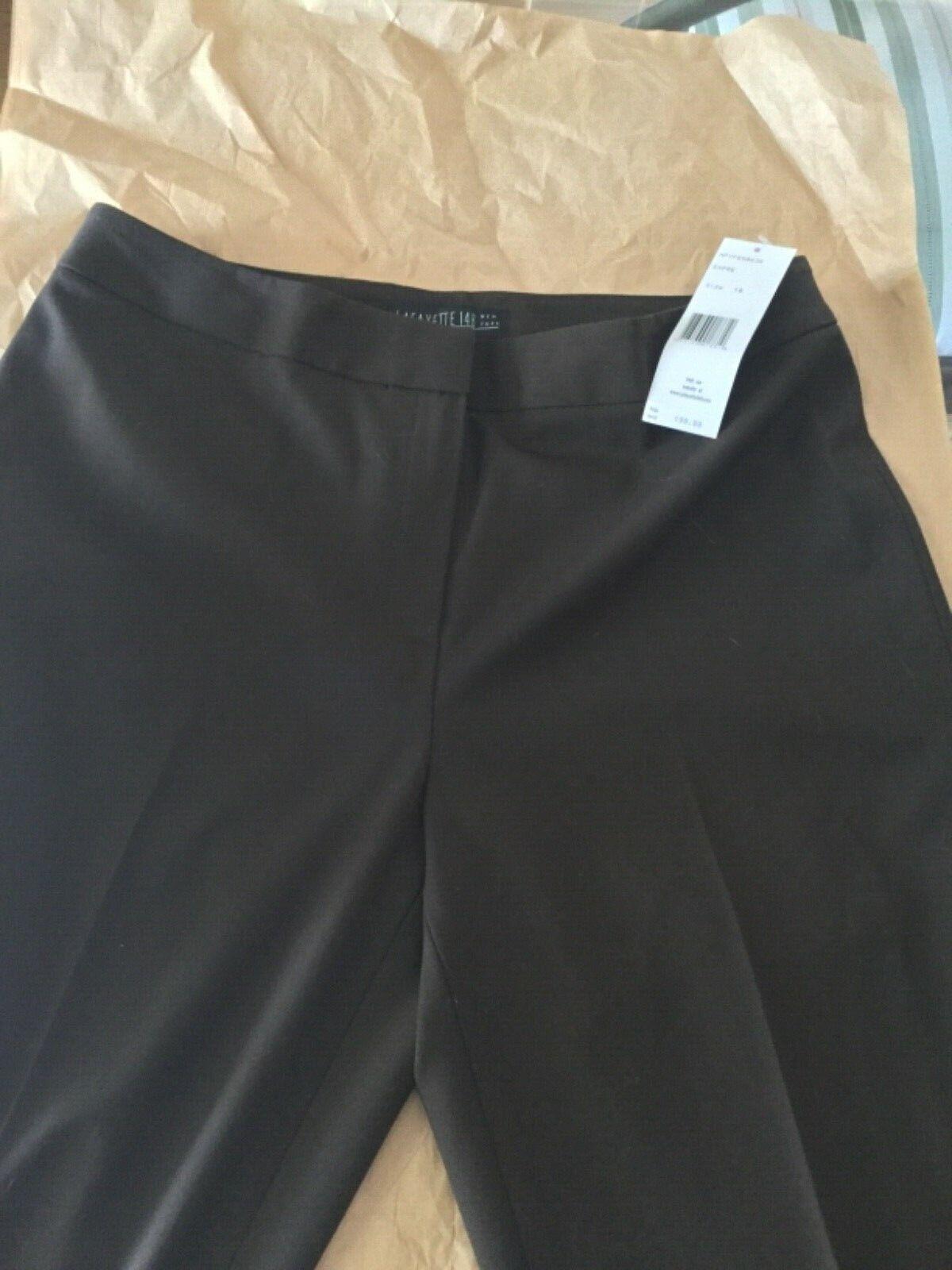 NEW Lafayette 148 Women's Espresso Brown Wool Dress Pants - 10P