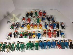 Vintage-HUGE-Playmobil-Lot-Figures-People-Animals-Accessories-Knights-Horses
