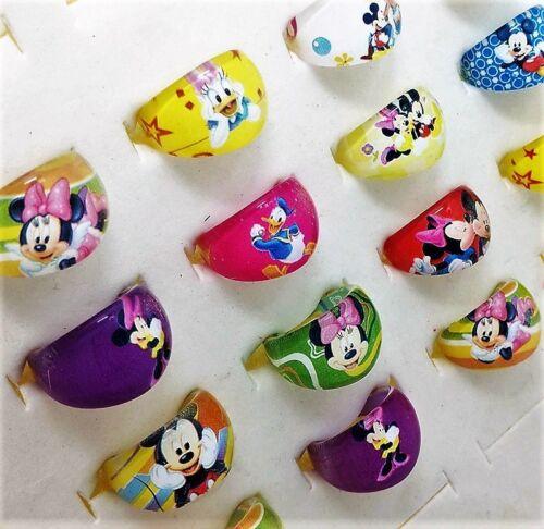cadeau 10 ou 20 mickey résine anneaux-kids party favors sac remplissage 5 présent