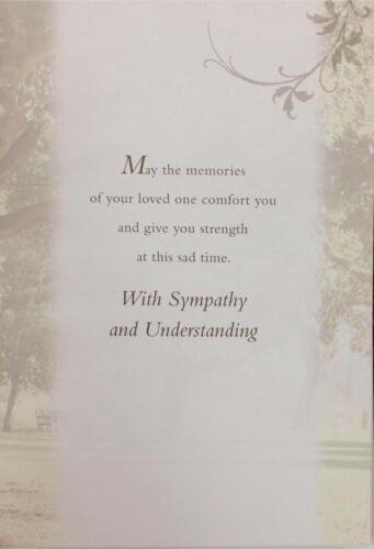 mari Sympathie carte sur la perte de votre fils frère ou grand-père père
