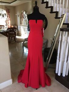911786f3412  398 NWT RED JVN BY JOVANI PROM PAGEANT FORMAL DRESS GOWN  31147 ...
