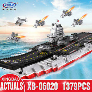 Bausteine-Xingbao-Ostern-Militaer-Serie-Flugzeugtraeger-Baukaesten-Blocks-Spielzeug
