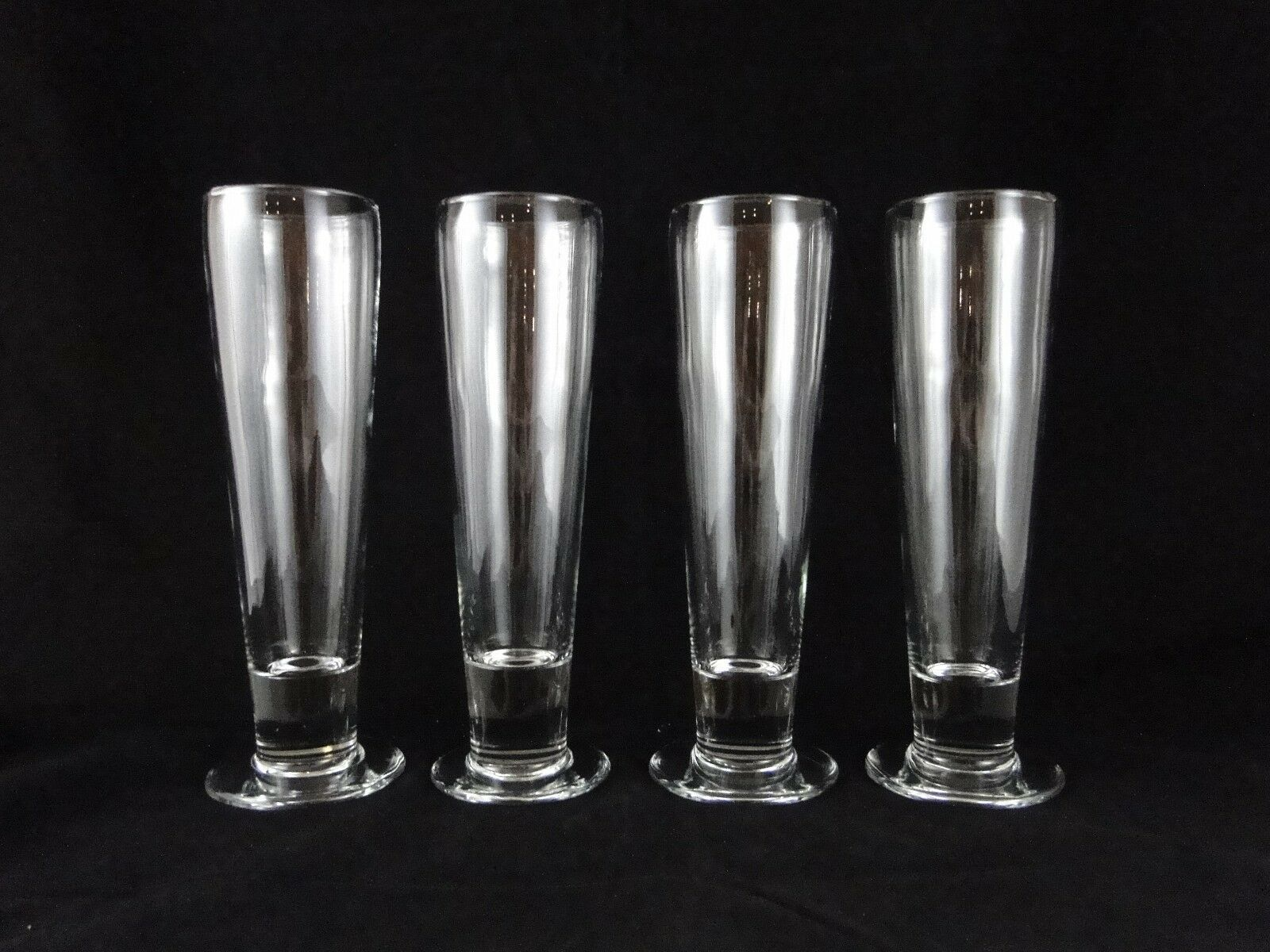 Set of 4 Footed Tall Beer Glasses