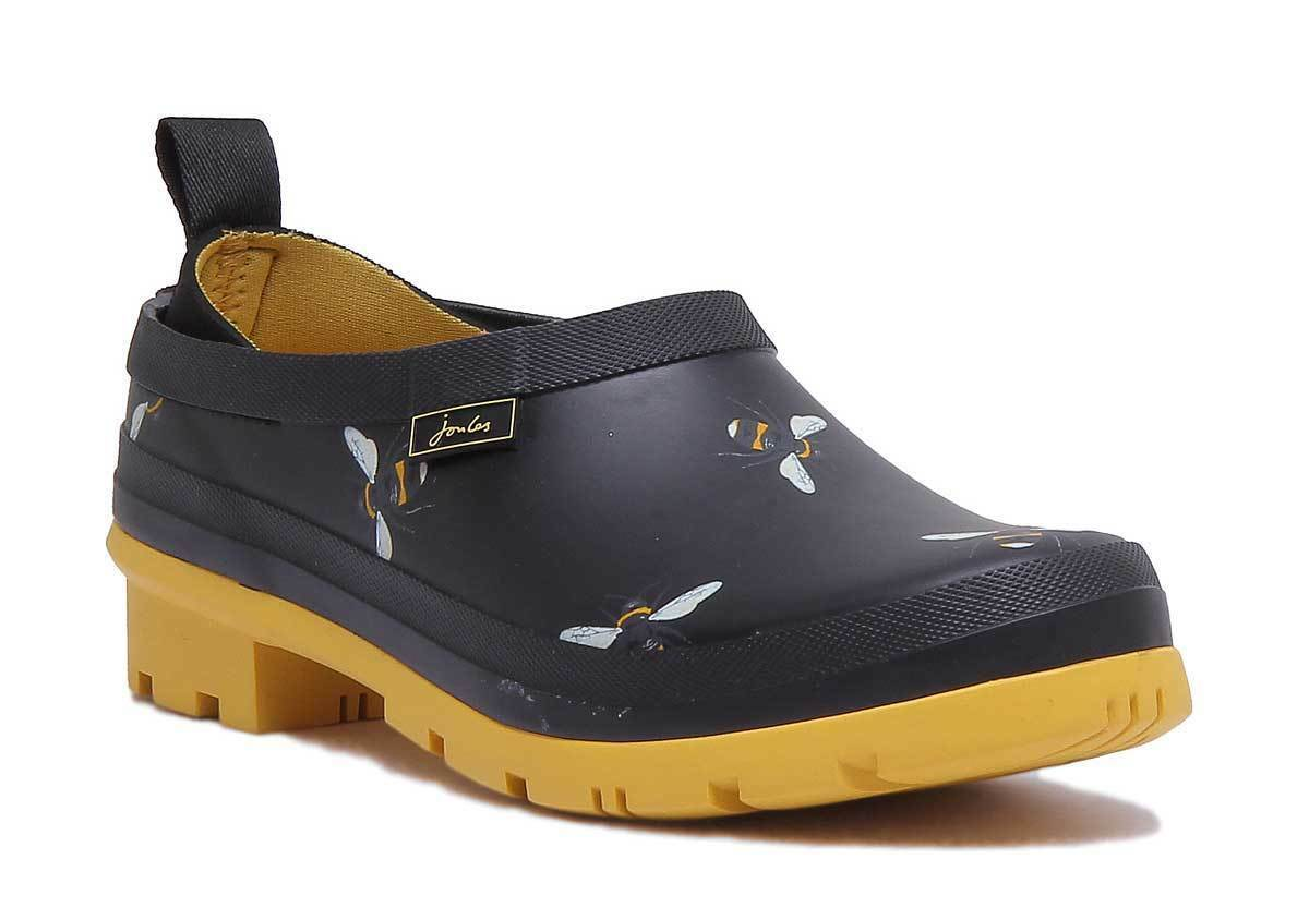 Joules Pop Ons Slip On Wellies Rubber French French French Navy Squirrel Clogs UK Größe 3 - 8 3cb3c7
