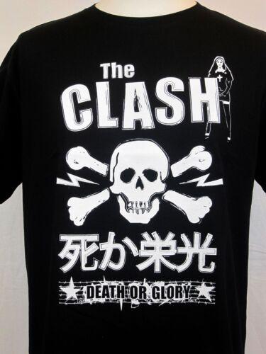 The Clash Inspiré T-shirt Mort Ou Gloire Crâne /& Crossbones Punk S-5XL Japan