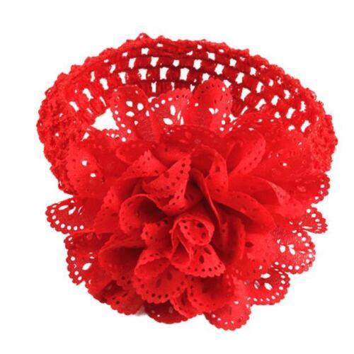Baby Kids Girls Lace Flower Crochet Hairband Headband Dress Up Head Accessories