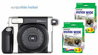 FUJI Fujifilm Instax Wide 300 Sofortbildkamera+ 40 Bilder ideale Hochzeitskamera