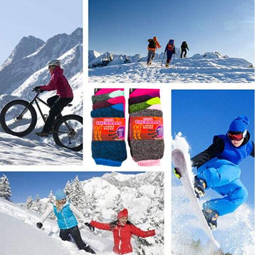 Lot 1-12 Womens Winter Super Warm Thermal Heated Sox Heavy Duty Boots Socks 9-11