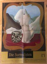 GERMAN EXHIBITION POSTER 1989 - RENE MARGRITTE - THE SURREALIST * ART PRINT