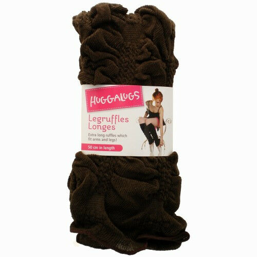 Huggalugs Solid Color Leg Ruffles Legwarmers Leggings Girls Women Dance