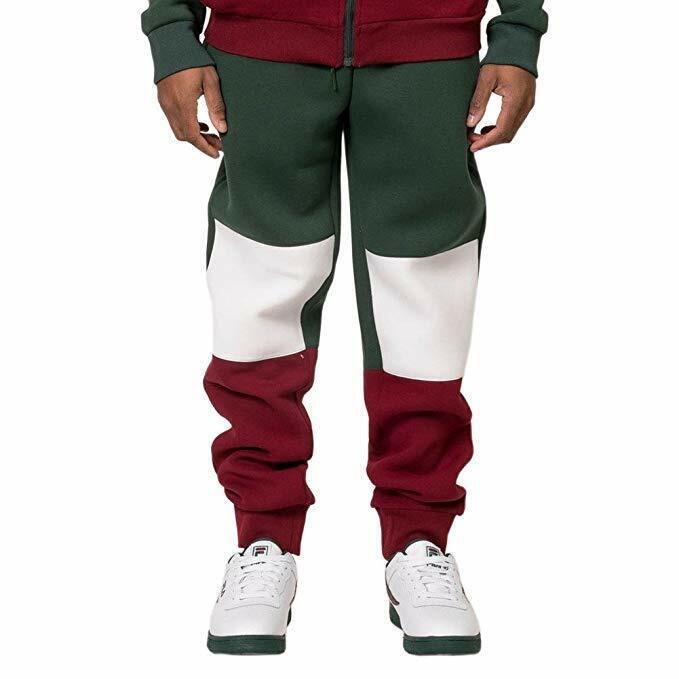 FILA Jude Sweatpants Men's Joggers LM173F28-350 Green Dark White Red sz M, L