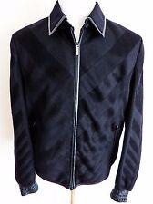 $13k NWT ZILLI 100% Cashmere with Lambskin Trim Jacket Coat Size 56 Euro 2XL