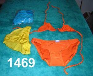e9d167974ea78 Image is loading 6-Bodybuilding-Triangle-Bikinis-Lycra-Large-Black-Yellow-