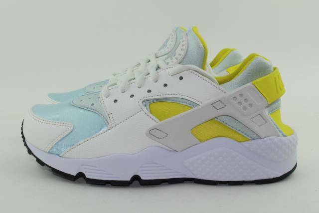 NIKE AIR HUARACHE RUN WOMAN SIZE 8.5 WHITE BLUE NEW RARE ULTRA LIGHTWEIGHT