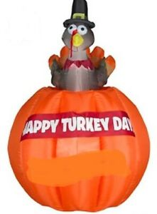 HALLOWEEN-THANKSGIVING-4-5-FT-ANIMATED-TURKEY-INFLATABLE-AIRBLOWN-YARD-DECOR