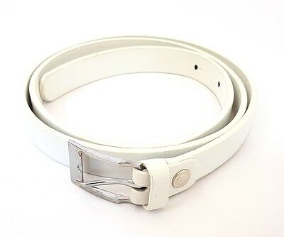 Cinta Cintura Donna Pelle Bianca Sottile Elegante Glamour Fashion Moda Hac Delizioso Nel Gusto