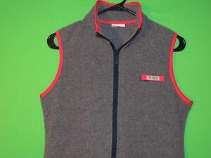 Columbia-PFG-Womens-Size-S-Small-Performance-Fishing-Gear-Gray-Sleeveless-Vest