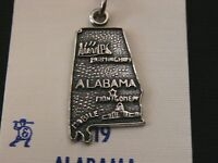 Stunning Sterling Silver Alabama State Pendent/ Charm Make Offer 1967