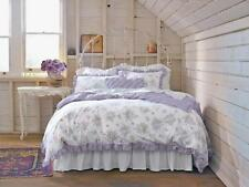 Simply Shabby Chic KING Duvet Cover Set Purple lilac lavender rose cottage