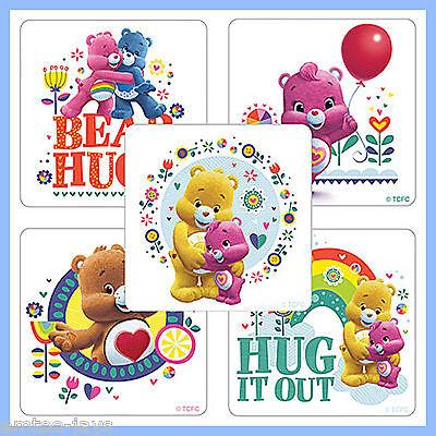 Care Bears Stickers x 5 - Favours - Cheer Bear, Grumpy, Wonderheart, Funshine