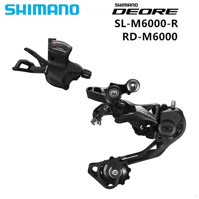 SHIMANO M6000 Groupset SL M6000 SHIFT LEVER  + RD M6000 REAR DERAILLEUR  with 100% quality and %100 service