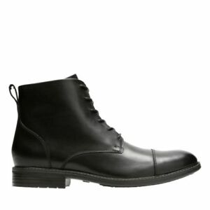 Image is loading NEW-MEN-CLARKS-TRUXTON-HIGH-BLACK-LEATHER-LACE-