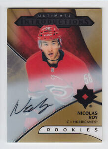 2018-19-UD-ULTIMATE-NICOLAS-ROY-AUTO-RC-INTRODUCTIONS-AUTOGRAPH-ROOKIE-Hurricane