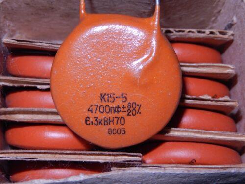 High Voltage Ceramic Disc Capacitors K15-5 4700pF 6.3kV.Lot of 20.NOS.