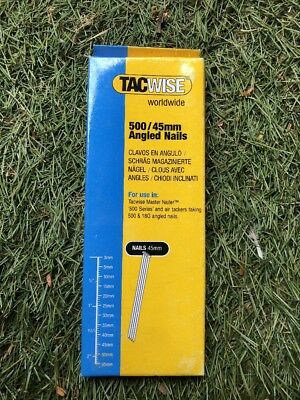 Tacwise 25mm 18 Gauge Angled Nails Box of 1000 500 Series 400ELS Compatible 0480