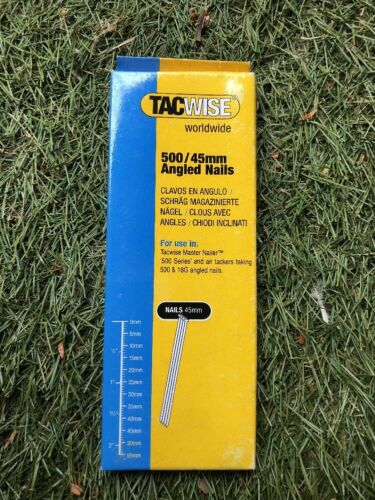 """1 3//4/"""" Angled Nails Pack Of 1000 18 Gauge 0484 Tacwise 500 Series 45mm"""