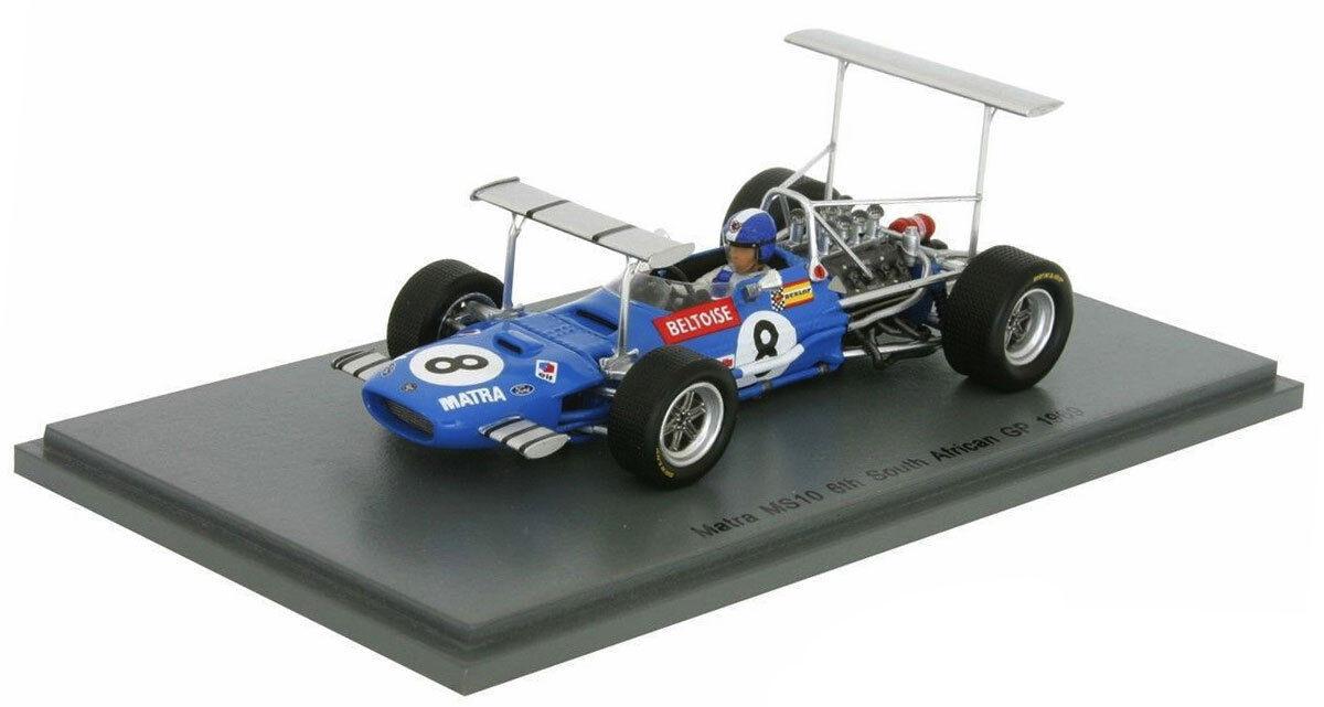 SPARK S5382 Matra MS10 #8 South Africa Africa Africa GP 1969-Jean-Pierre Beltoise échelle 1/43 | Un Prix Raisonnable  7f4c62