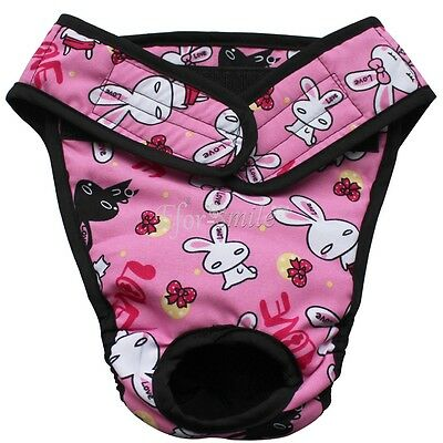 Washable Reusable Dog Diaper Sanitary Physiological Pants Panties Underwear S-XL