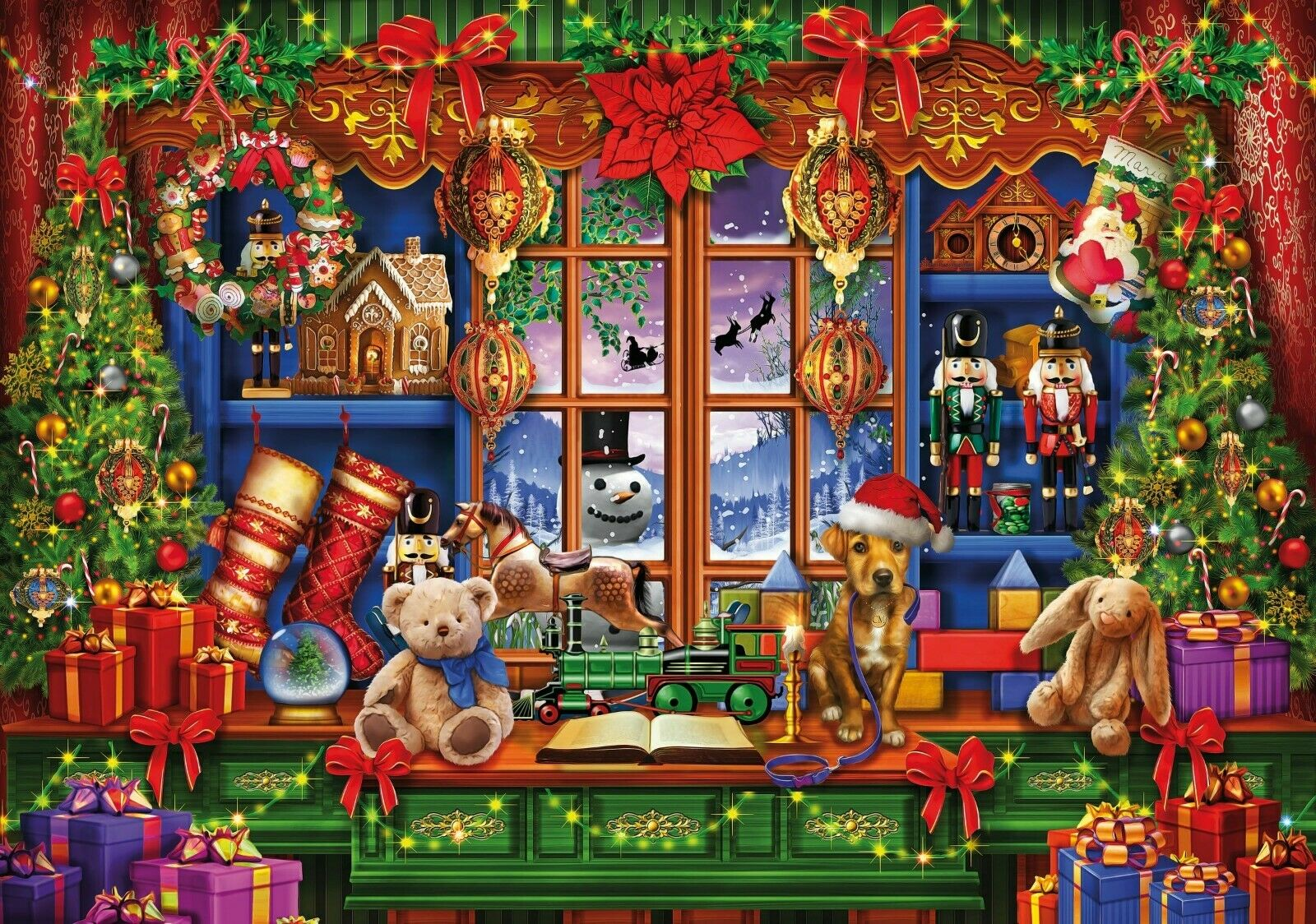 WENTWORTH Wooden Jigsaw Puzzle  Ye Olde Christmas Shoppe  250 pcs Whimsy fun NEW