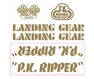 P.K. Ripper Decal set - gold   top brand