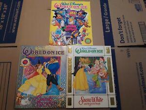 Walt-Disney-039-s-World-On-Ice-Beauty-And-The-Beast-Snow-White-Souvenir-Program-lot