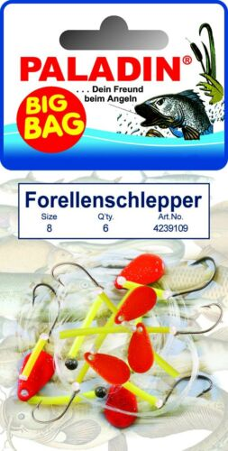 TROUT HOOKS Size 6,8+10 Paladin BIG BAG TROUT Tractor