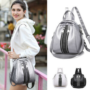 Convertible-Faux-Leather-Small-Backpack-Rucksack-Crossbody-Shoulder-bag-Purse