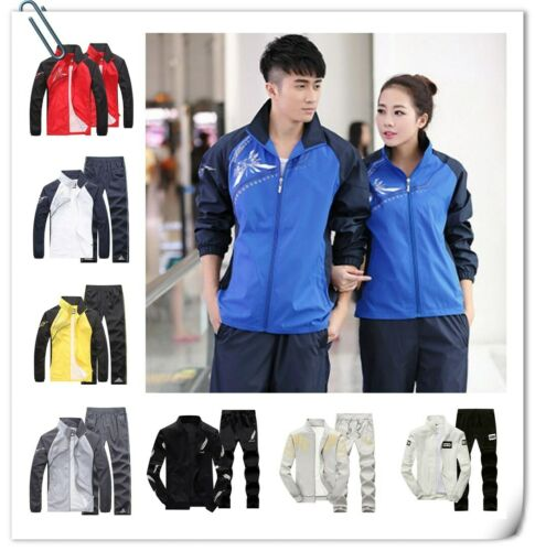 2PC Set Men/'s Tracksuit Sport Jacket Pants Casual Jogging Athletic Trainer Suit