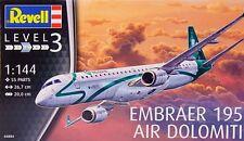 Revell 1/144 Model Kit 04884 Embraer ERJ-195 Air Dolomiti