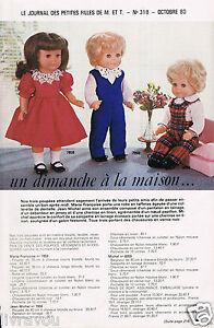 ▬► Page Poupée Michel et Françoise  Modes et Travaux 10//1980